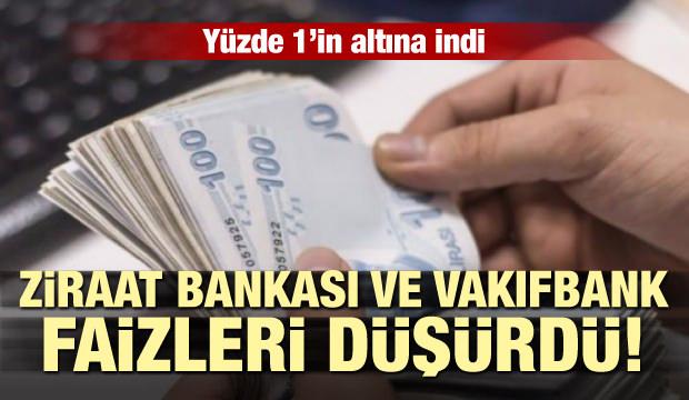 Ziraat Bankası ve VakıfBank konut kredisi faizlerini düşürdü