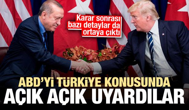 Anlaşmanın detaylarını paylaşıp, ABD'yi Türkiye konusunda uyardılar