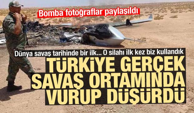Dünya tarihinde o silahı ilk kez Türkiye kullandı! Vurup düşürdük