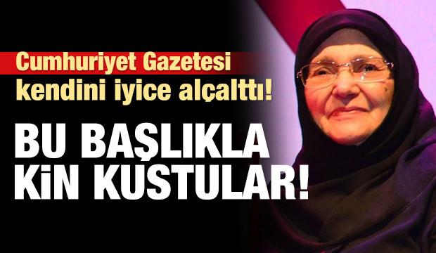 Cumhuriyet Gazetesi'nden Şule Yüksel Şenler'e büyük ayıp!