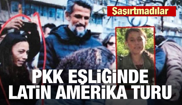 HDP'liler şaşırtmadı! PKK eşliğinde Latin Amerika turu