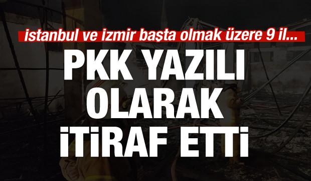 PKK itiraf etti: Biz yaktık!