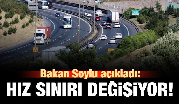 Süleyman Soylu'dan hız sınırı açıklaması! Düzenleme geliyor!