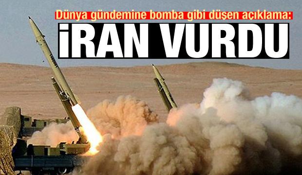 Dünya gündemine bomba gibi düşen açıklama: İran vurdu