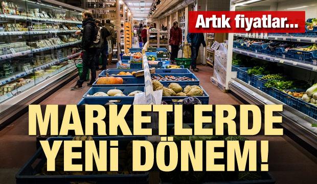 Marketlerde yeni dönem başlıyor! Artık fiyatlar...