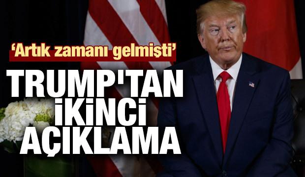 Son dakika haber: Trump'tan ikinci 'Barış Pınarı Harekatı' açıklaması