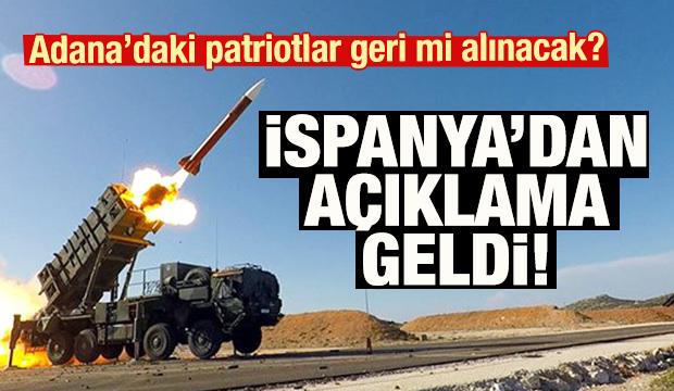Son dakika haberi! Adana'daki Patriotlarla ilgili İspanya'dan açıklama