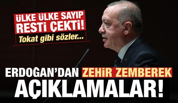 Erdoğan ülke ülke sayıp resti çekti! Sert sözler...