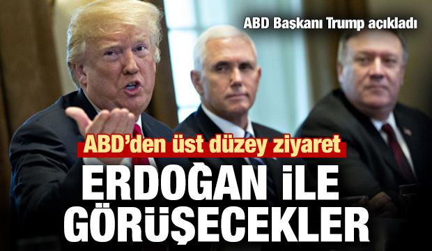 ABD'den üst düzey ziyaret: Erdoğan ile görüşecekler