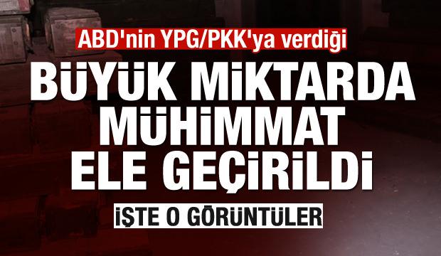 ABD'nin YPG/PKK'ya verdiği silah mühimmatları ele geçirildi