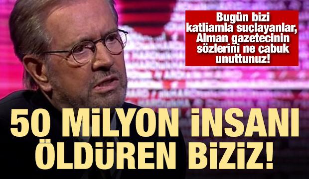 Alman gazeteci gerçekleri canlı yayında böyle haykırmıştı!