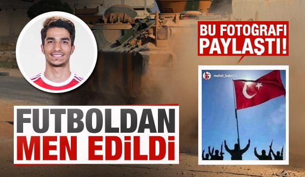 Barış Pınarı'nı destekleyen futbolcuya men cezası