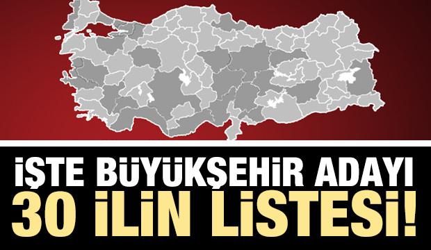 İşte Türkiye'nin Büyükşehir olmaya aday illeri
