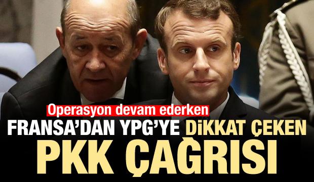 Operasyon devam ederken Fransa'dan YPG'ye dikkat çeken PKK çağrısı