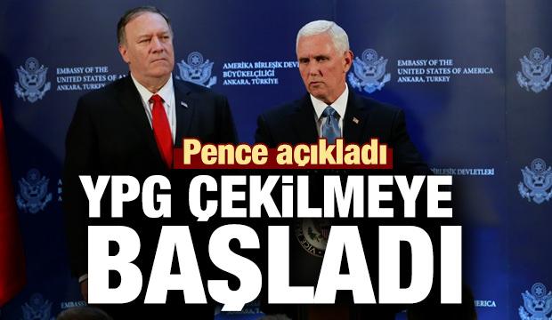 Son dakika haber: Pence açıkladı: YPG çekilmeye başladı