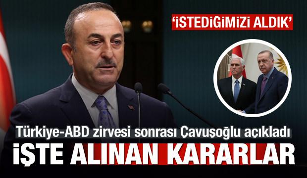 Son dakika: Zirve sonrası Çavuşoğlu alınan kararları açıkladı