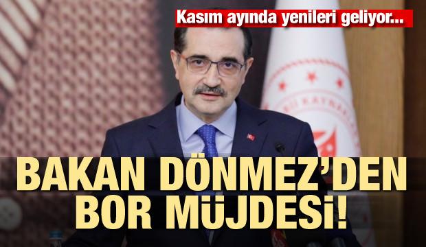 Bakan Dönmez'den son dakika 'Bor' müjdesi! Kasım'da yenileri geliyor...