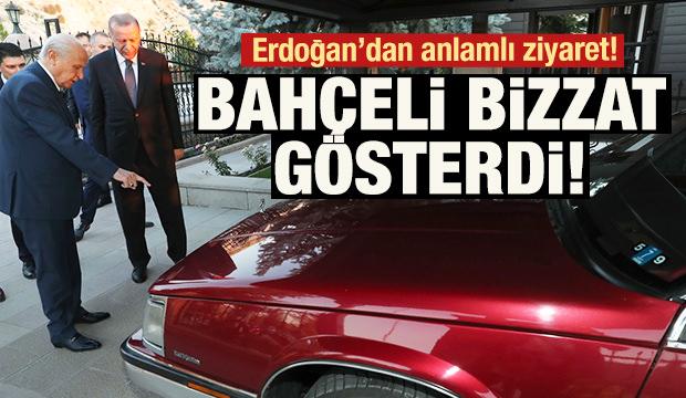 Erdoğan'dan Bahçeli'ye ziyaret! Bizzat gösterdi