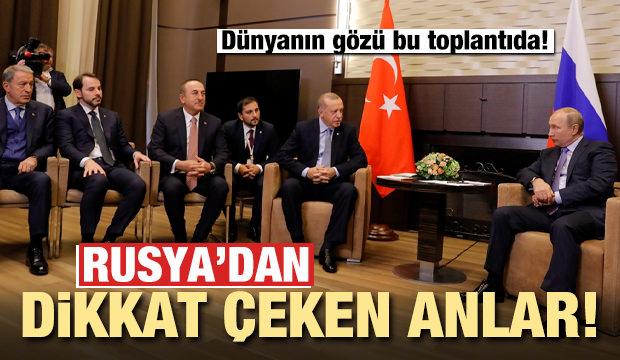 Cumhurbaşkanı Erdoğan Rusya'da! Dikkat çeken anlar...