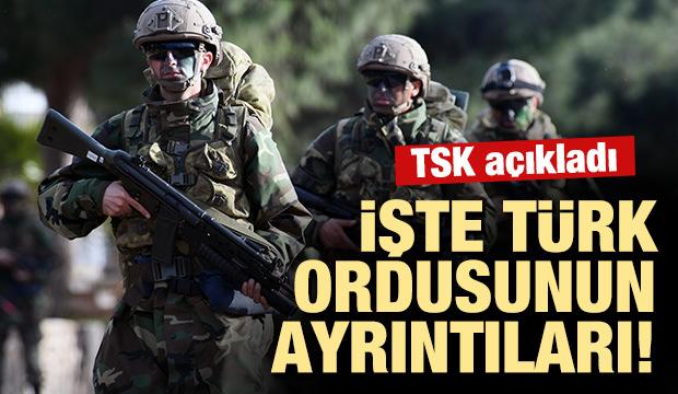 İşte Türk ordusunun ayrıntıları