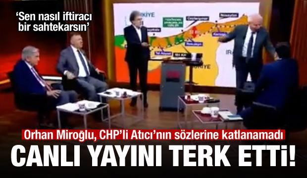 Miroğlu ile CHP'li Atıcı canlı yayında birbirine girdi