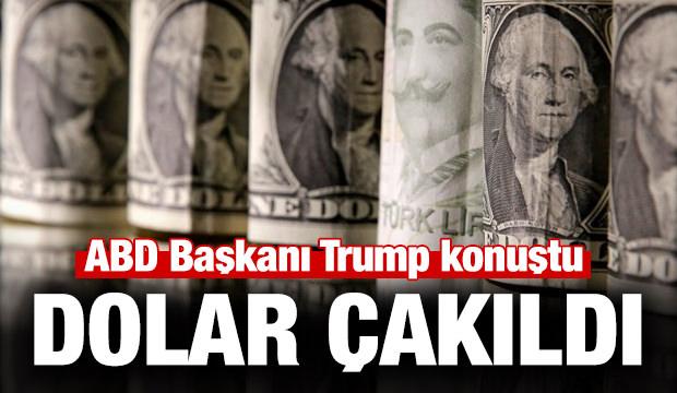 Trump konuştu dolar hızla düştü