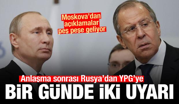 Türkiye ile anlaşma sonrası Rusya'dan PKK/YPG'ye bir günde iki uyarı