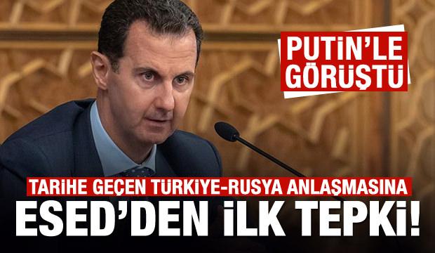 Türkiye-Rusya anlaşması sonrası Esed'den ilk tepki!