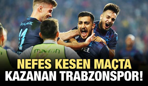 Nefes kesen maçta kazanan Trabzonspor!