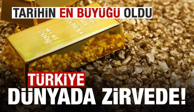 Türkiye altında dünya birincisi!