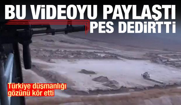 Bu videoyu paylaştı! Türkiye düşmanlığı gözünü kör etti