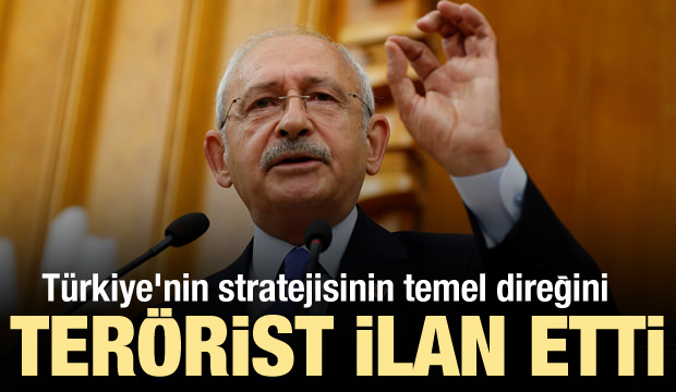 CHP, Türkiye'nin stratejisinin temel direğini terörist ilan etti