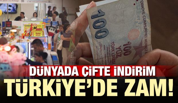 Dünyada çifte indirim Türkiye'de zam
