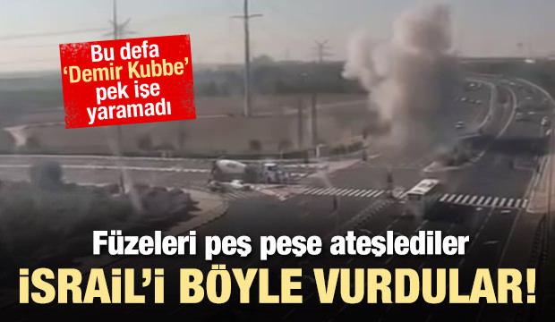 Füzeler peş peşe ateşlendi! İsrail'i böyle vurdular