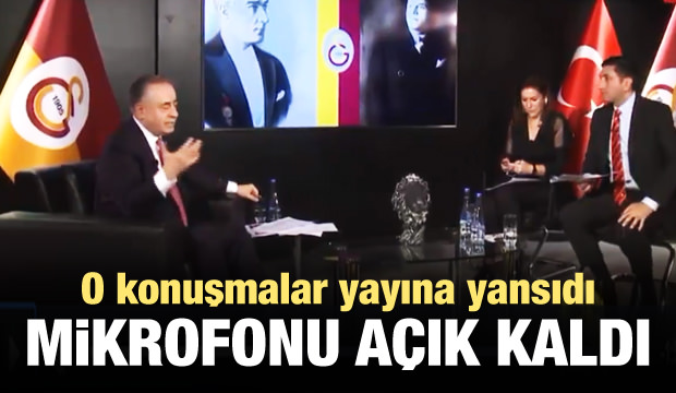 Mustafa Cengiz'in mikrofonu açık kaldı
