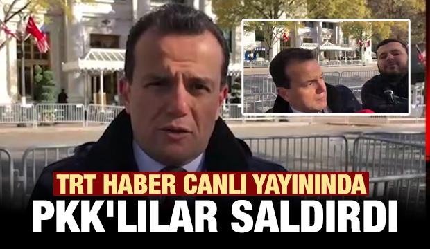 PKK'lılar TRT Haber canlı yayınında muhabire saldırdı