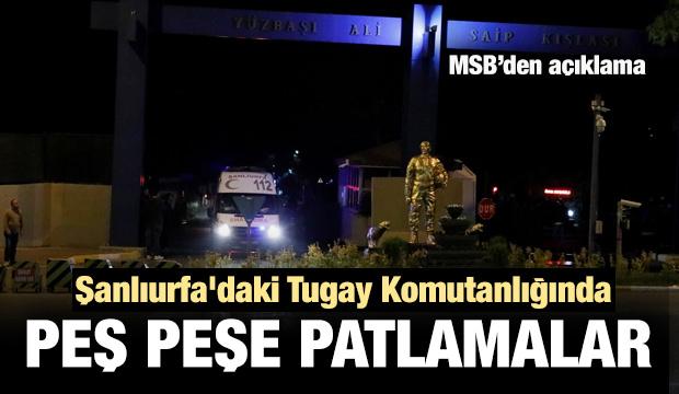 Son dakika haber: Şanlıurfa'daki Zırhlı Tugay komutanlığında patlama