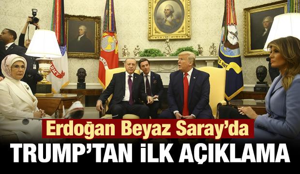 Son dakika haber: Trump'dan Erdoğan görüşmesi öncesi ilk açıklama