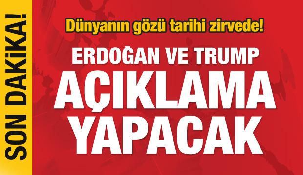 Son dakika haberi: Erdoğan ve Trump ortak açıklama yapacak!