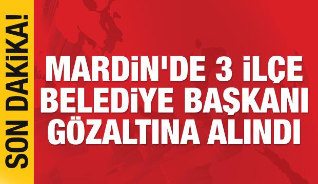 Son dakika haberi: Mardin ve Şanşıurfa'da 4 ilçe belediye başkanı gözaltına alındı