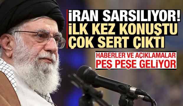 Son Dakika: İran sarsılıyor! Hamaney ilk kez ve çok sert konuştu