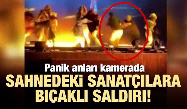 Suudi Arabistan'da sahnedeki sanatçılara bıçaklı saldırı!