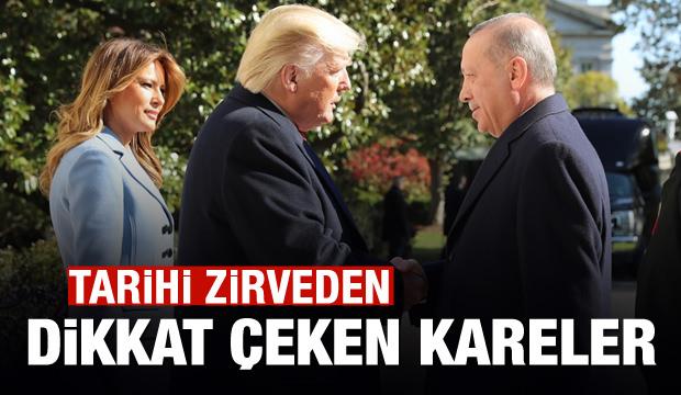 Trump Başkan Erdoğan'ı böyle karşıladı