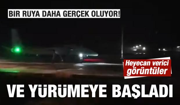 Ve Türkiye'nin gururu 'Akıncı' yürümeye başladı