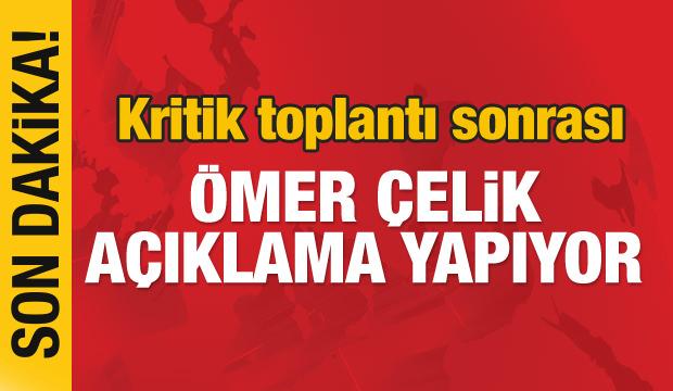 AK Parti Sözcüsü Ömer Çelik açıklama yapıyor