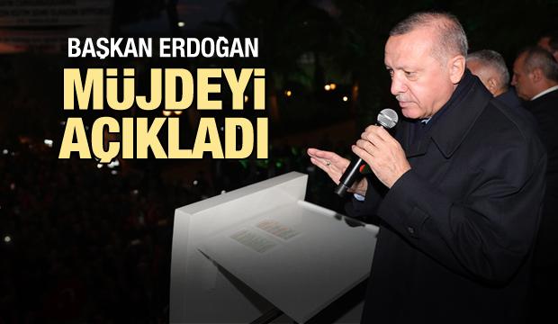 Cumhurbaşkanı Erdoğan'dan İzmirli vatandaşlara müjde