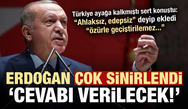 Erdoğan çok sert konuştu: Ahlaksız edepsiz! Cevabı verilecek