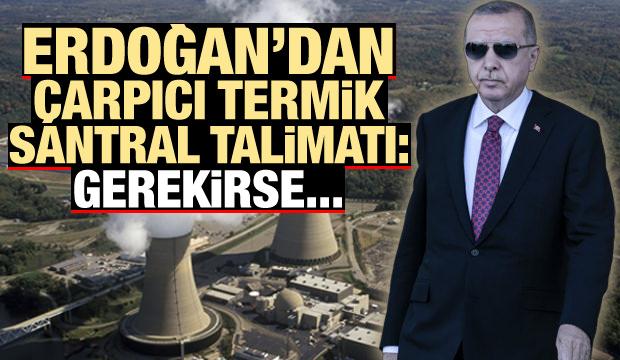 Erdoğan'dan çarpıcı termik santral talimatı: Gerekirse kapatın