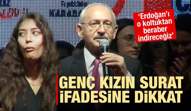 Kılıçdaroğlu Erdoğan'ı indireceğini söyledi! Genç kızın tepkisi ise...