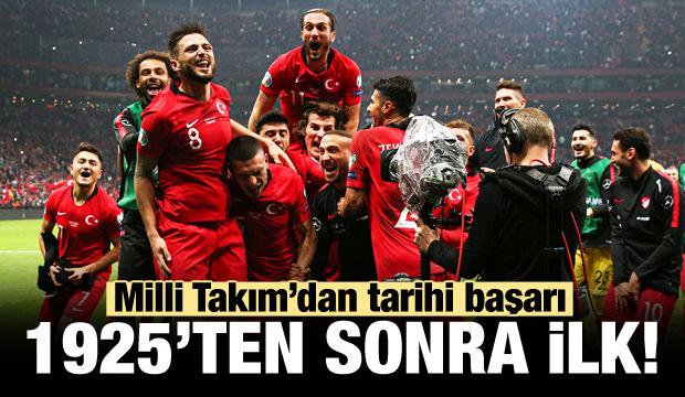 Milli Takım'dan tarihi başarı!